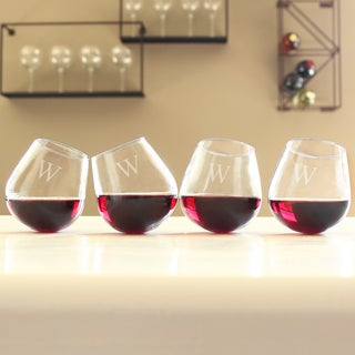 Personalized Tipsy Wine Glasses (Set of 4)