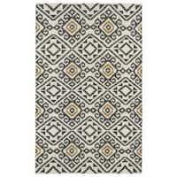 Flatweave TriBeCa Grey Motif Wool Rug - 8' x 10'