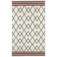 Flatweave TriBeCa Ziggy Grey Wool Rug - 9' x 12'