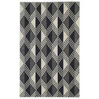 Flatweave TriBeCa Black Diamonds Wool Rug - 8' x 10'