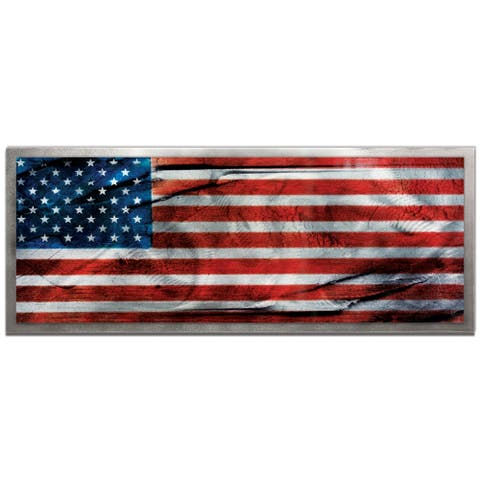 'American Glory' Contemporary Metal Wall Art