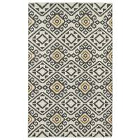 Flatweave TriBeCa Grey Motif Wool Rug (2' x 3')