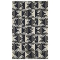 Flatweave TriBeCa Black Diamonds Wool Rug - 3'6 x 5'6