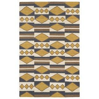 Flatweave TriBeCa Mustard Wool Rug (8' x 10')
