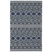 Flatweave TriBeCa Blue Wool Rug - 3'6 x 5'6