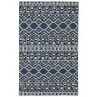Flatweave TriBeCa Blue Wool Rug - 8' x 10'