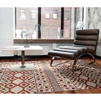 Flatweave TriBeCa Paprika Wool Rug (9' x 12') - 9' x 12'