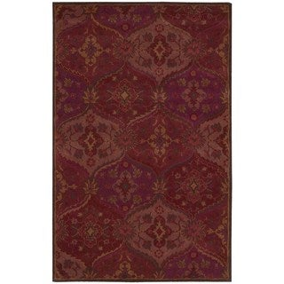 Nourison Hand-tufted India House Red Rug (2'6 x 4')
