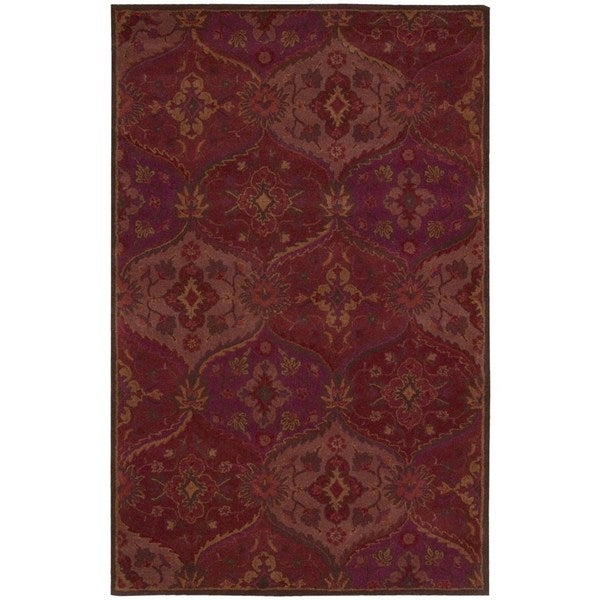 Nourison Hand-tufted India House Red Rug (8' x 10'6) - 8' x 10'6