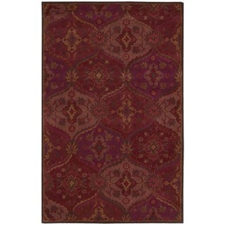 Nourison Hand-tufted India House Red Rug (8' x 10'6)