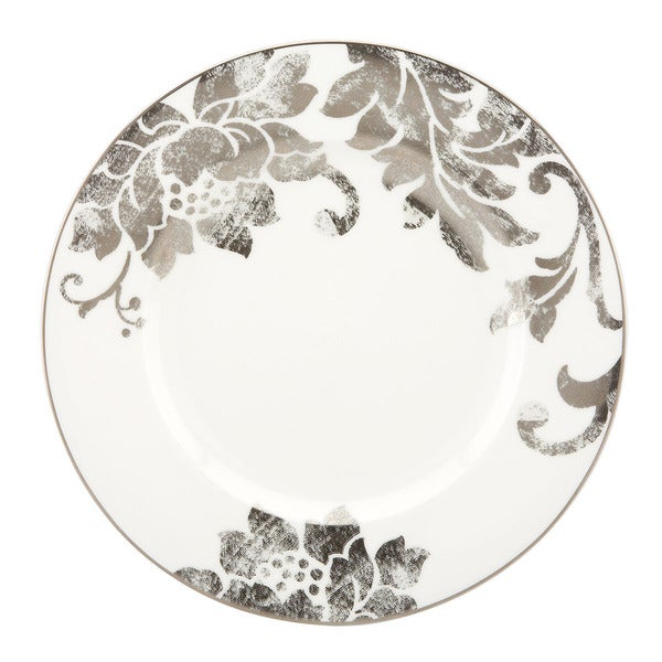 Lenox Silver Applique Dinner Plate Free Shipping