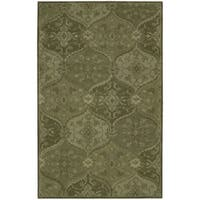 Nourison Hand-tufted India House Green Rug - 3'6 x 5'6