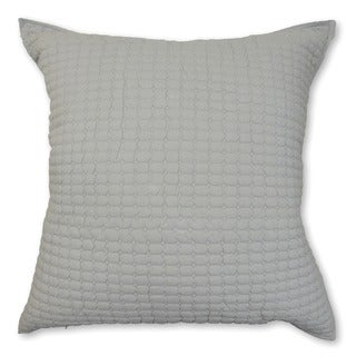 Cottage Home Urkin Quilted Grey Decorative Pillow