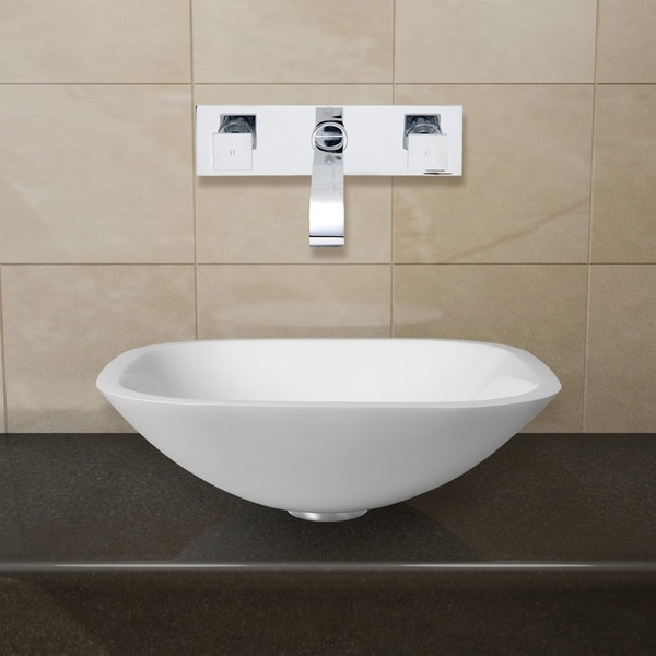 VIGO Marie Vessel Bathroom Sink Set with Titus Wall Mount Faucet