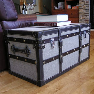 Decorative Vienna Medium Wooden Steamer Trunk