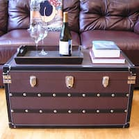 Decorative Sterling Large Wood Steamer Trunk Wooden Treasure Hope Chest