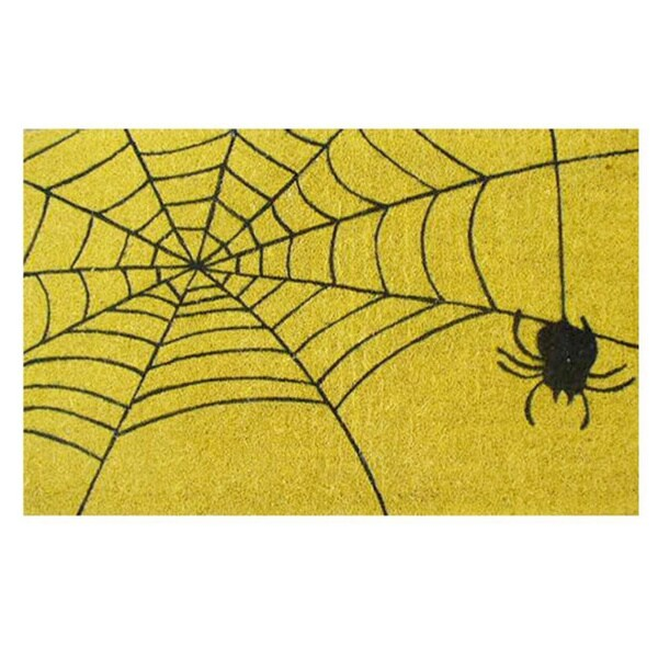 Spiderweb Coir With Vinyl Backing Doormat 17 Inches X 29