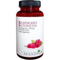 Raspberry Ketone 250 with Green Tea 200mg Dietary Supplement