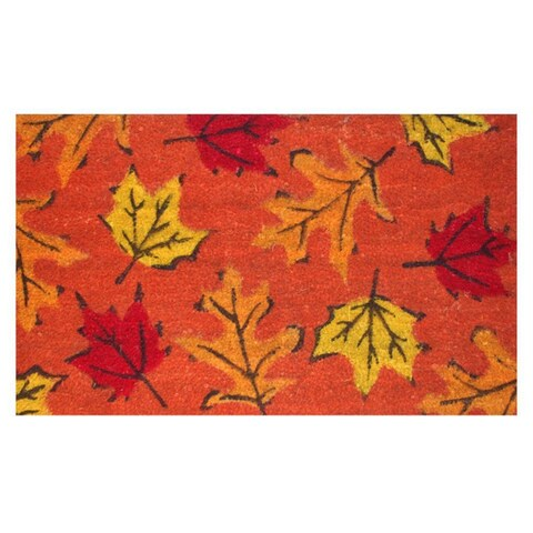 Fall Leaves-Coir with Vinyl Backing Doormat (17-inches x 29-inches)