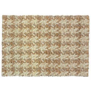 Kosas Home Maricel Houndstooth Natural Jute 4x6 Rug