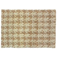 Kosas Home Maricel Houndstooth Natural Jute 5x8 Rug