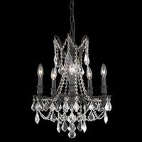 Somette Meilen 5-light Royal Cut Crystal and Antique Bronze Chandelier