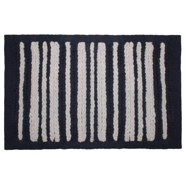 Nautical Stripe Chenille Bath Rug