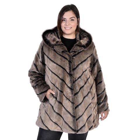 Women's Plus Size Samara Faux Fur Short Coat
