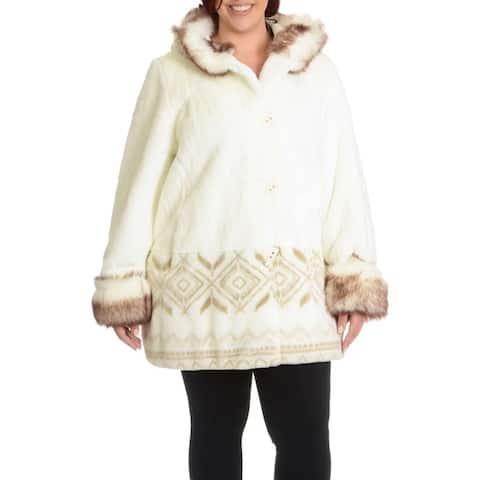 Women's Plus Size Marco Faux Fur Scene Coat