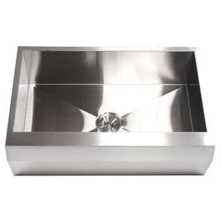 Link to 33-inch 16 Gauge Stainless Steel Farm Apron Well Angled Single Bowl Kitchen Sink Similar Items in Sinks
