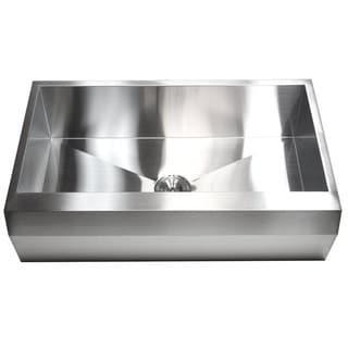 36-inch 16 Gauge Stainless Steel Farm Apron Single Bowl Kitchen Sink