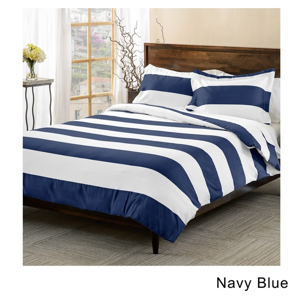 navy single duvet cover set star toddler sets superior cotton blend thread count cabana stripe piece