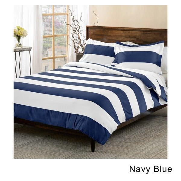 navy single duvet cover set star toddler sets superior cotton blend thread count cabana stripe piece