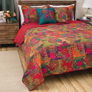 Greenland Home Jewel Oversized Reversible 5-piece Bonus Quilt Set