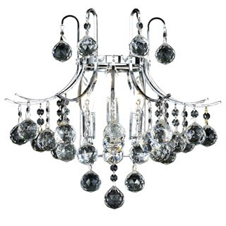 Somette Linz Royal Cut Crystal and Chrome 3-light Wall Sconce
