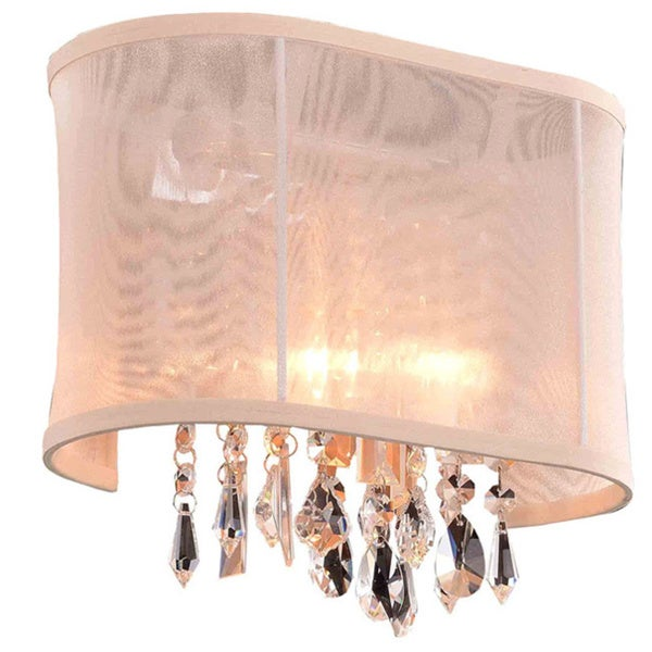 Somette Bienne Royal Cut Crystal and Chrome 1-light Wall Sconce