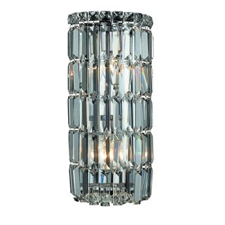 Somette Lausanne 2-light Royal Cut Crystal/ Chrome Wall Sconce