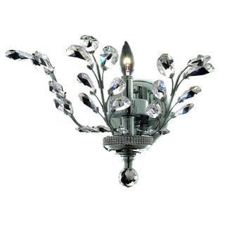 Somette Bern Royal Cut Crystal and Chrome 1-light Wall Sconce