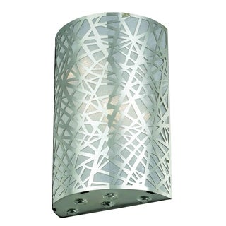 Somette Emmen 2-light Royal Cut Crystal/ Chrome Wall Sconce