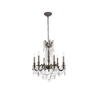 Somette Lucerne 6-light Royal Cut Crystal and Pewter Chandelier
