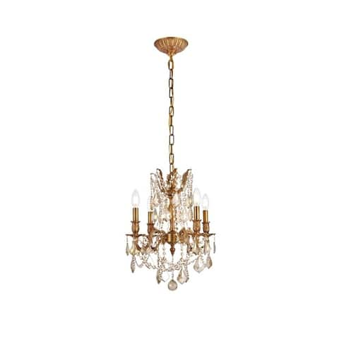 Somette Zurich 4-light Royal Cut Gold Crystal and French Gold Chandelier