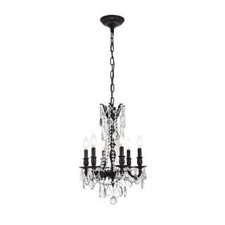 Somette Lucerne 6-light Royal Cut Crystal and Dark Bronze Chandelier