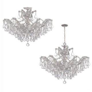 Crystorama Maria Theresa Collection 6-light Chrome/ Crystal Chandelier