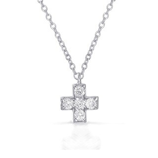 Eloquence 10k Gold Diamond Accent 'X' Necklace