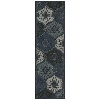 Hand Tufted Nourison India House Denim Rug (2'3 x 7'6)