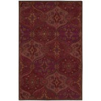 Nourison Hand Tufted India House Red Rug (3'6 x 5'6) - 3'6 x 5'6