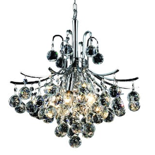 Somette Ticino 6-light Royal Cut Crystal and Chrome Chandelier