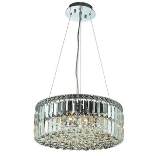 Somette Lausanne 12-light Royal Cut Crystal and Chrome Chandelier