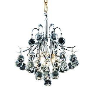 Somette Ticino 3-light Royal Cut Crystal and Chrome Pendant