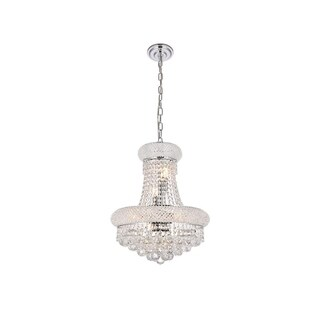 Somette Geneva 8-light Royal Cut Crystal and Chrome Chandelier